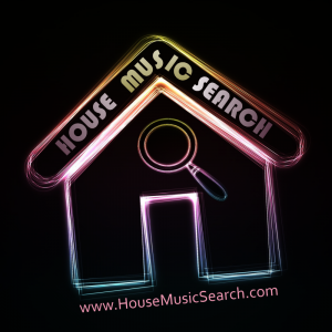 House Music Search Logo with web address large size 1000x1000 300dpi